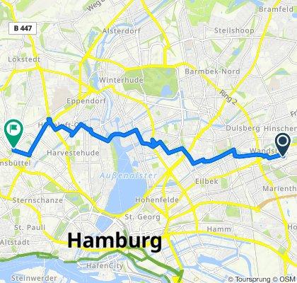 Von-Bargen-Straße 32, Hamburg nach Heußweg 37, Hamburg