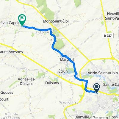 Itinéraire à partir de Rue Ampère 2, Arras