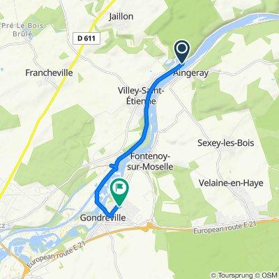 Itinéraire vers 6 Allée des Arcs, Gondreville