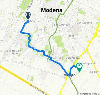 Da Via Giovanni Grillenzoni 19, Modena a Strada Collegarola 84, Modena