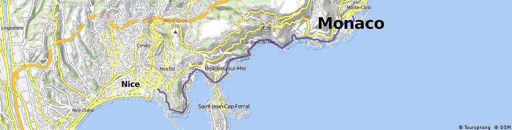 Nice Monaco Monte Carlo Bikemap Your bike routes