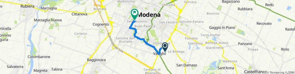 Da Strada Collegarola 84/1, Modena a Via Giovanni Grillenzoni 1, Modena