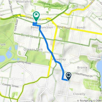 42–52 Varna Street, Clovelly to Grosvenor Lane, Bondi Junction