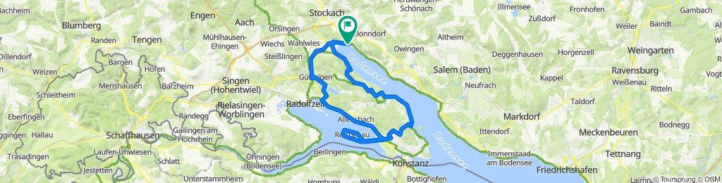 Ludwigshafen → Möggingen → Markelfingen → Reichenau → Litzelstetten → Bodman → Ludwigshafen