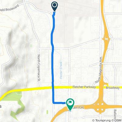 2015 N Marshall Ave, El Cajon to 589 N Johnson Ave, El Cajon