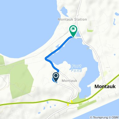 3 S Dorset Dr, Montauk to 19 Industrial Rd, Montauk
