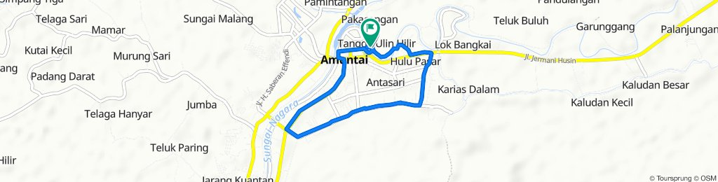 Jalan Danau Terate, Amuntai Tengah to Jalan Danau Terate, Amuntai Tengah