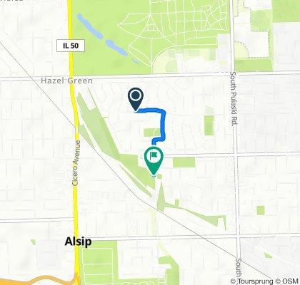 4502–4598 W 116th Pl, Alsip to 11930 S Kostner Ave, Alsip