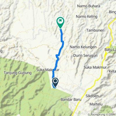 Bandar Baru, Kecamatan Sibolangit to Unnamed Road, Kutalimbaru