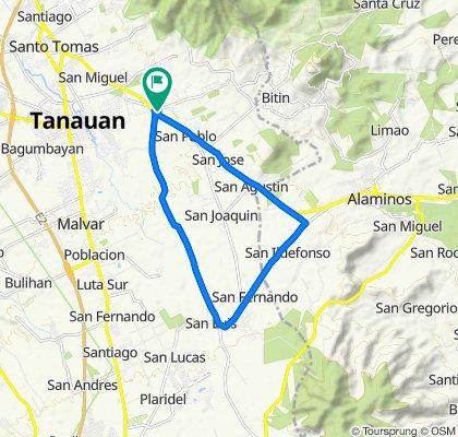 Juan Villegas Street 3050, Santo Tomas to Juan Villegas Street 3050, Santo Tomas