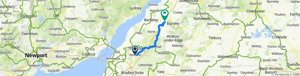 12 Greenhill Road, Bristol to Wick Lane, Dursley