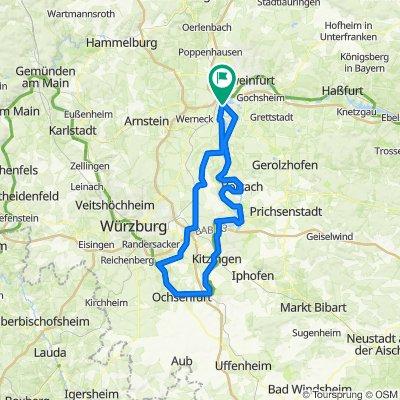 Volkach - Nordh-Sommerach bis Eibelstadt