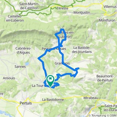 De 550 Route de Pipailler, La Tour-d'Aigues à 550 Route de Pipailler, La Tour-d'Aigues