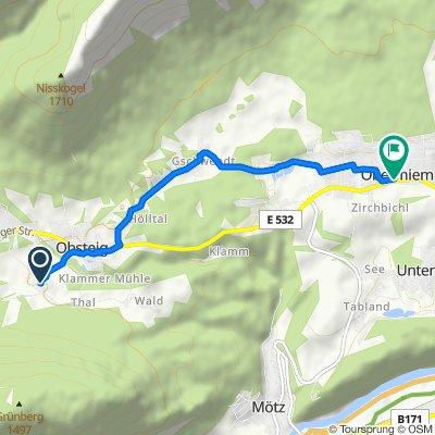 Finsterfiecht 47–48, Obsteig nach Obermieming 185a, Obermieming