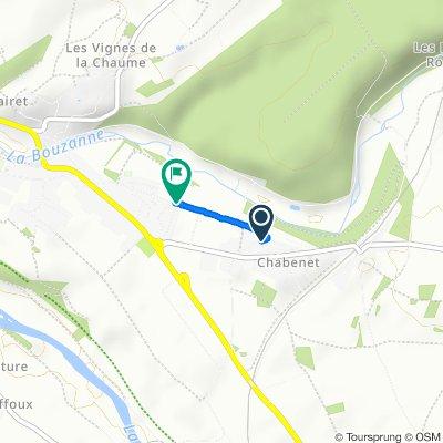 6 Rue du Rocher, Le Pont-Chrétien-Chabenet nach Allée du Parc, Le Pont-Chrétien-Chabenet