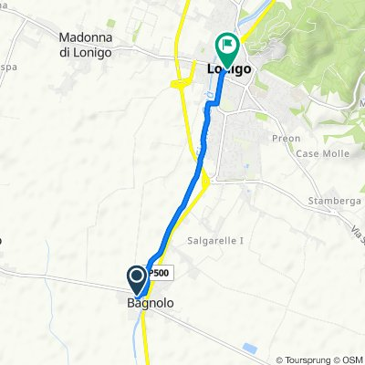 Via Risaie 1, Lonigo nach Piazza 4 Novembre 12, Lonigo