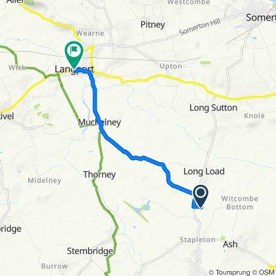 Payne's Lane, Martock to 1 Harveys Court, Langport