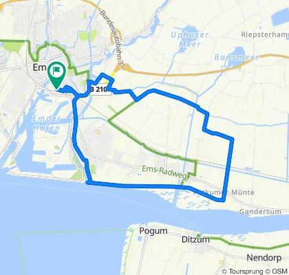 Arthur-Engler-Straße 34, Emden nach Arthur-Engler-Straße 32, Emden