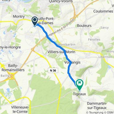 De 9 Chemin du Pressoir à Cidre, Saint-Germain-sur-Morin à 64 Rue du Grand Morin, Tigeaux