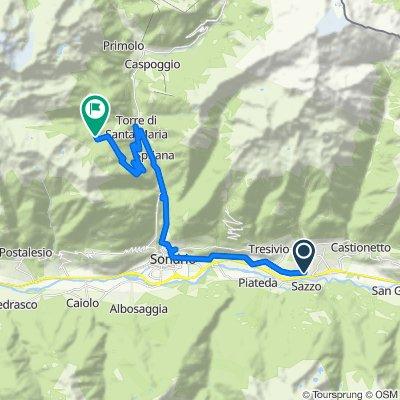 Percorso da Via Fiorenza, Ponte in Valtellina
