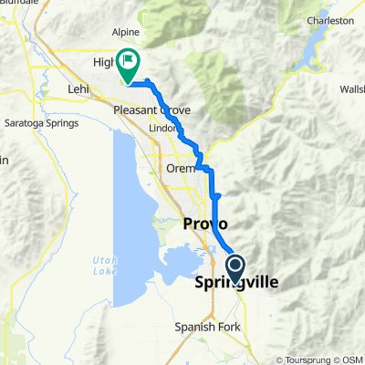 South 100 West 241, Springville to 700 North 890, American Fork
