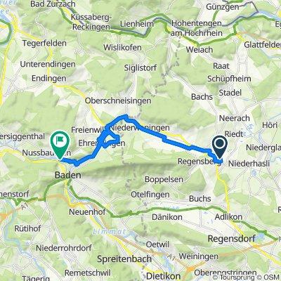 Leuenpungertstrasse 12, Dielsdorf nach Landstrasse 80, Nussbaumen bei Baden
