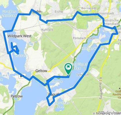 Route von An der Pirschheide 29–41, Potsdam