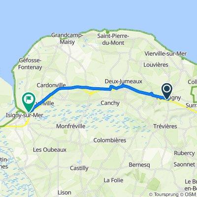 N13, Formigny nach Rue Docteur Boutrois 2, Isigny-sur-Mer