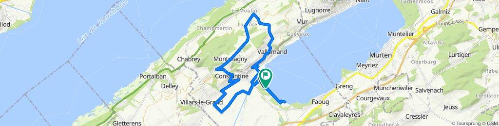Route de la Plage, Vully-les-Lacs nach Route de la Plage, Vully-les-Lacs