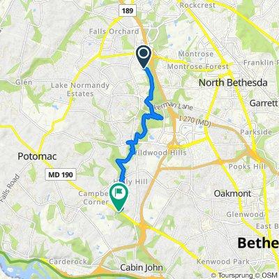 11821 Goya Dr, Potomac to 8101 River Rd, Bethesda