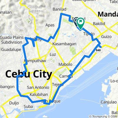 Route to Hernan Cortes, Mandaue City