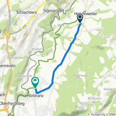 Bruck 22, Hohenweiler nach Heribrandstraße 14, Hörbranz