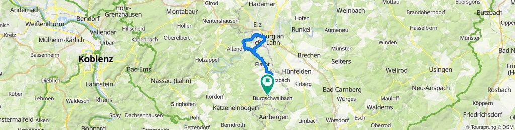 Burgschwalbacher Straße 9, Hahnstätten nach Burgschwalbacher Straße 13, Hahnstätten