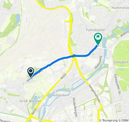 Weg beim Jäger 95, Hamburg nach Erdkampsweg 7, Hamburg