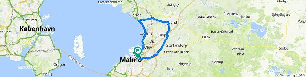 Malmö-Lomma-Bjärred-Lund-Malmö