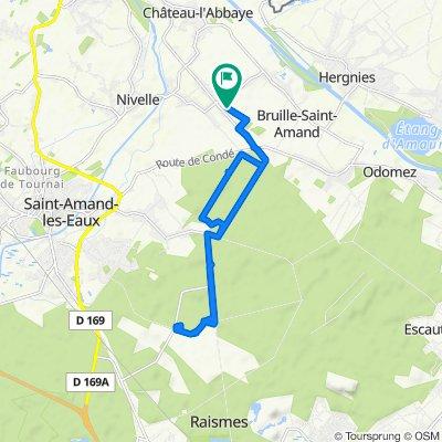De 222 Chemin des Bruyères, Bruille-Saint-Amand à 210 Chemin des Bruyères, Bruille-Saint-Amand