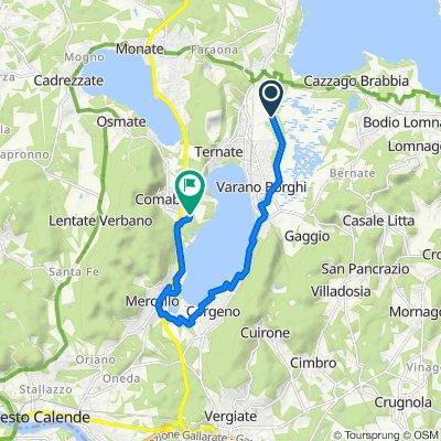 Da Via Palude 19/B, Ternate a Via Sotto Campagna 250, Comabbio