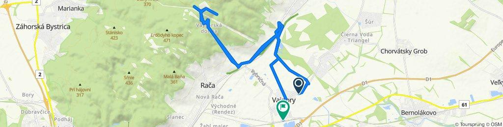 Tomanova 9943/97, Vajnory do Príjazdná 10031/5, Bratislava