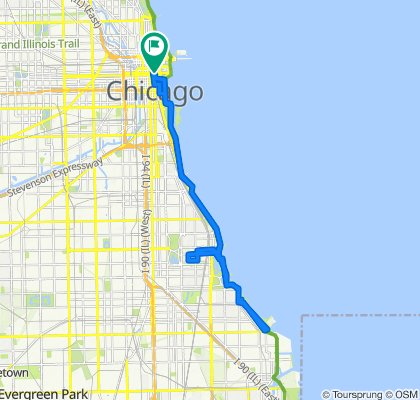 63 E Lake St, Chicago to E Randolph St, Chicago