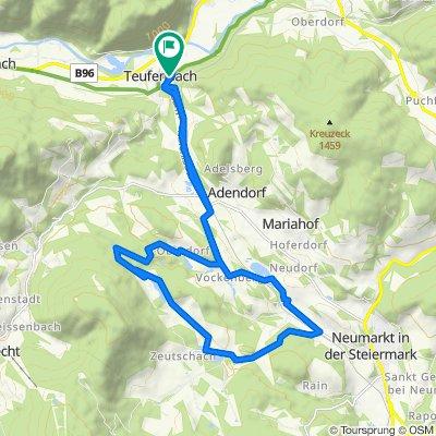 Murweg, Teufenbach-Katsch nach Kirchgasse 6, Teufenbach-Katsch