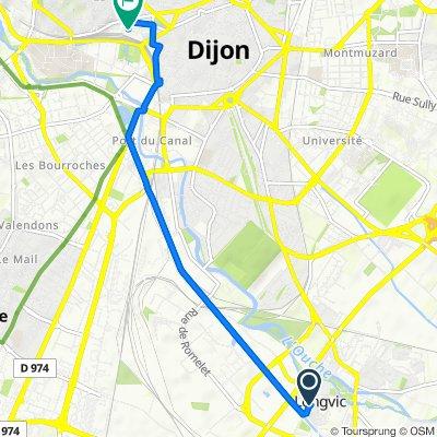 De 22 Rue Armand Thibaut, Longvic à 23 Cour de la Gare, Dijon