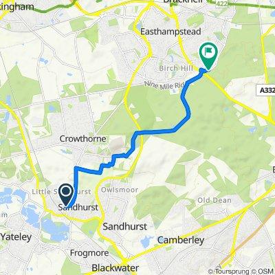 13 Harts Leap Road, Sandhurst to 27 Wards Stone Park, Bracknell