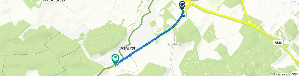 Knellers Lane, Totton, Southampton to 189 Lyndhurst Road, Southampton