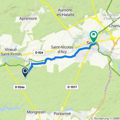 De Route Saint-Nicolas, Avilly-Saint-Léonard à 5 Rue Saint-Pierre, Senlis
