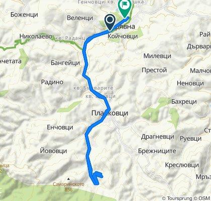 ulitsa Stara planina 141, Tryavna to ulitsa Hristo Patrev 1, Tryavna