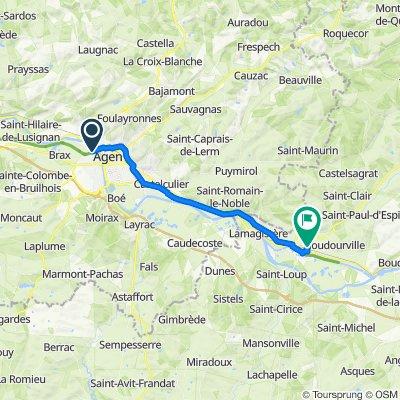 Itinéraire à partir de 11 Chemin du Pinche, Le Passage d'Agen