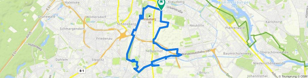 Gneisenaustraße 90, Berlin to Gneisenaustraße 91, Berlin