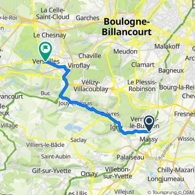 La Véloscénie : Massy - Versailles