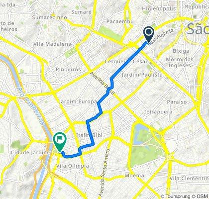 De Rua Matias Aires, 200, São Paulo a Avenida Henrique Chamma, 590, São Paulo