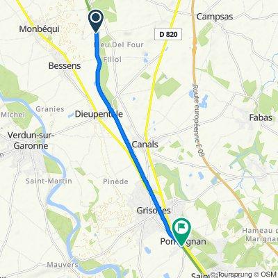 De Chemin du Canal, Bessens à 5 Impasse Saint-Cyprien, Pompignan